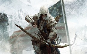 Asesino, bandera, nieve