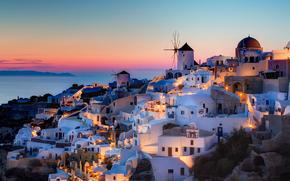 Grecia, santorini, Notio Aigaio, oia, tramonto, casa, szeke fotografia