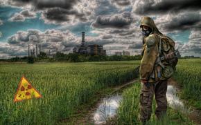 Stalker, Stalker, perseguidor, soldado, guerreiro, zona, Central nuclear de Chernobyl, Chernobyl, radiao