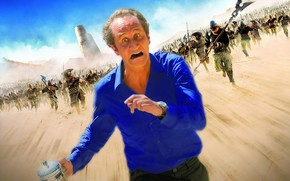 due mondi, corre, inseguimento, Piangere, sabbia, guardare, Camicia blu, situazione, torre, Benoit Pulvord