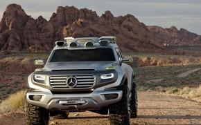 Maquinaria, Coche, Concepto, Coche, SUV, jeep, Mercedes, BENZ, desierto, Montaas, Mercedes