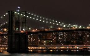 ponte, notte, semaforo