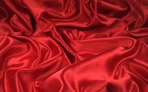 изгибы, ткань, складки, красное