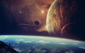 artwork, fantasy art, space
