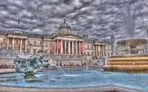 Лондон, london, Великобритания, united kingdom, Англия, england, Трафальгарская площадь, trafalgar square, фонтан