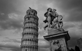Leaning Tower of Pisa, Pisa, Italy, sculpture