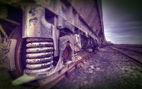 train, cars, spring, Wheel, Rails, Sleepers, iron, road, macro, Other machinery and equipment