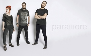 Paramore, hayley williams, jeremy davis, taylor york, rock alternativo, punk pop, promocin, gris, Hailey, Jeremas, Taylor, Promocin, gris, fondo