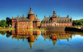 Castles, Fortress, Germany, Oisselburg anholt