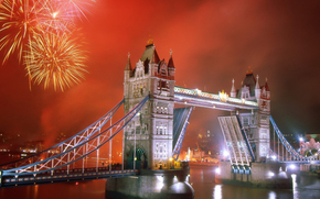 rivire, rivire, Londres, Londres, rouge, Rouge, pont, pont, royaume-uni, Royaume-Uni, Thames, thames, salut, feu d'artifice, Tower Bridge, tower bridge