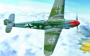 plane, fighter, German