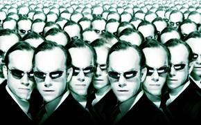 матрица, Агент Смит, очки, много, головы
