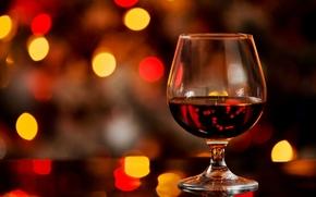 Brandy, goblet, alcohol, bokeh