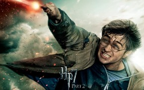 harry potter, Deathly Hallows, wand, magic, teeth, blood, wounds, battle, anger, hatred, glasses, strike, wizard