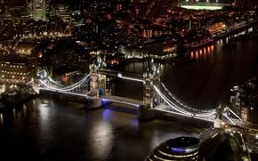 Puente de la Torre, Puente de la Torre, Londres, Londres, Inglaterra, Inglaterra, Gran Bretaa, Reino Unido, ro, thames, Thames, Ayuntamiento, noche, Ciudad, casa, Rascacielos, iluminacin