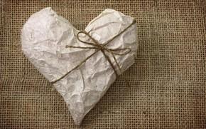 stato d'animo, cuore, cuore, nastro, carta, rugoso, amore, sfondo, carta da parati