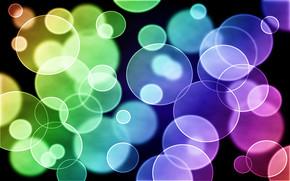 гимп, абстракция, круги, белый, жёлтый, радуга, голубой, розовый, фиолетовый, свет, пузырьки