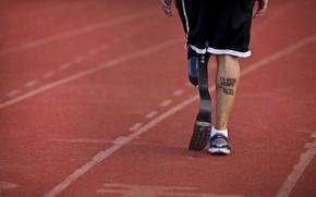 sport, Paralimpici, gamba, protets, tatuaggio, traccia