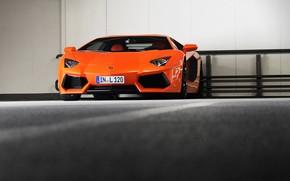 Lamborghini, Lamborghini, aventador, Orange, parking, parking, Lamborghini