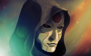 Легенда о Корре, Амон, маска, капюшон, арт
