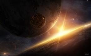 Kunst, Planet, Fantasie, Raum, Stern