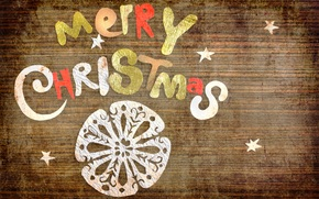 Christmas, congratulation, holiday, inscription, snowflake, letters, paper, stars, Vintage, New Year