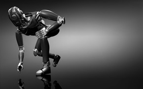 mtal, robot, gris