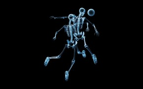 Skeletons, X-ray, football, ball
