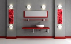 interior, floor, wall, light, Shelves