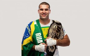 Mixed Martial Arts, fighter, champion, championship belt, flag, Brazil