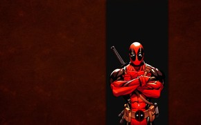 Deadpool, comic strip, red, band