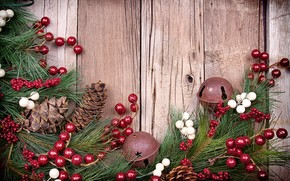 Cones, Berries, Tree, Jewelry, New Year