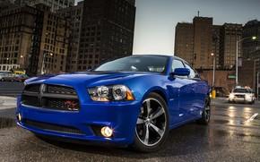 car, wallpaper, Dodge, supercharger, Daytona, front, blue, machine, Dodge