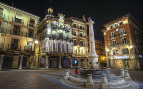Spain, home, teruel, aragon, Street, night