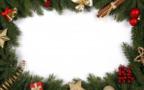 bow, cinnamon, Christmas decorations, branch, Tree, Bells, New Year