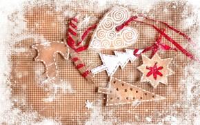 Tree, heart, snowflake, Deer, jobbing, board