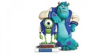 Monsters Universitt, Monsters, Inc., Lehrbcher, grn, blau, einugig, Horn, lcheln