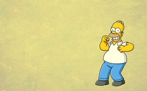 Simpsons, Homer, smile