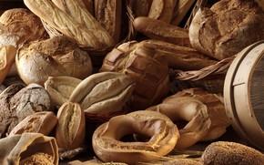 выпечка, хлеб, булки, батоны