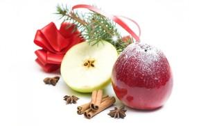apples, cinnamon, star anise, Tree