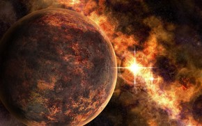 planeta, miejsce, Gwiazda