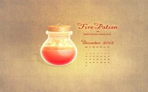 декабрь, календарь, дни, числа, огненное зелье для сладких поцелуев и теплых объятий