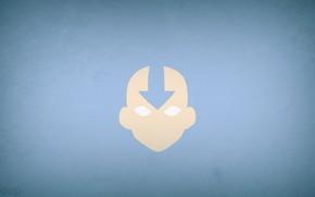 minimalism, Blue Background, Avatar