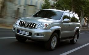 jeep, Samochd, napdowy, prdko, droga, sposb, Ziemia, Krownik, Prado, Toyota
