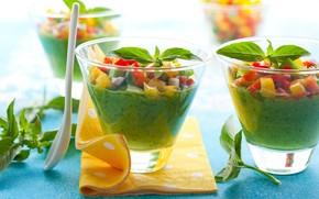 fruit, vegetables, fresh, glasses, Wipes, spoon
