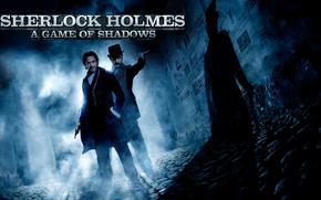 shelok Holmes, sherlock holmes um jogo de sombras, Watson. melancolia, noite, sombra, pistola