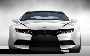 BMW, RZ, m6, voiture, BMW, machine, blanc
