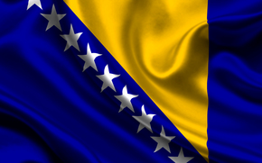 bosnia and herzegovina, satin, flag, flag, sateen