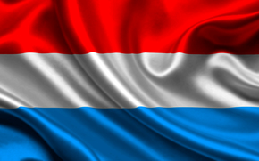 luxembourg, satin, flag, flag, Luxembourg