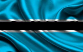 botswana, satin, flag, flag, sateen